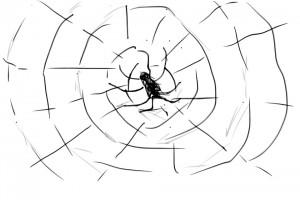 小学生と蜘蛛の糸