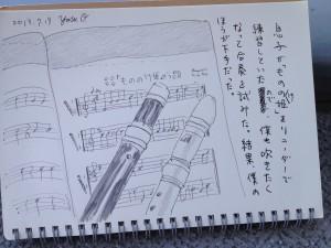 Sketch by fudepen and ballpen (2013-07-19)