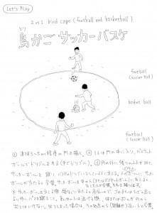 鳥かごサッカーバスケ(2 vs 1 bird cage – football and basketball)
