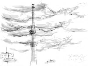 "iPad Sketch ""Tokyo Sky Tree"""