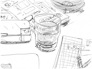 on the table(iPad sketch)