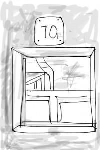 iOSスケッチ「踊り場を描く」