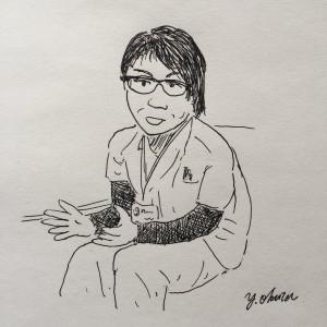 ボールペン・スケッチ(ケア女医 編)